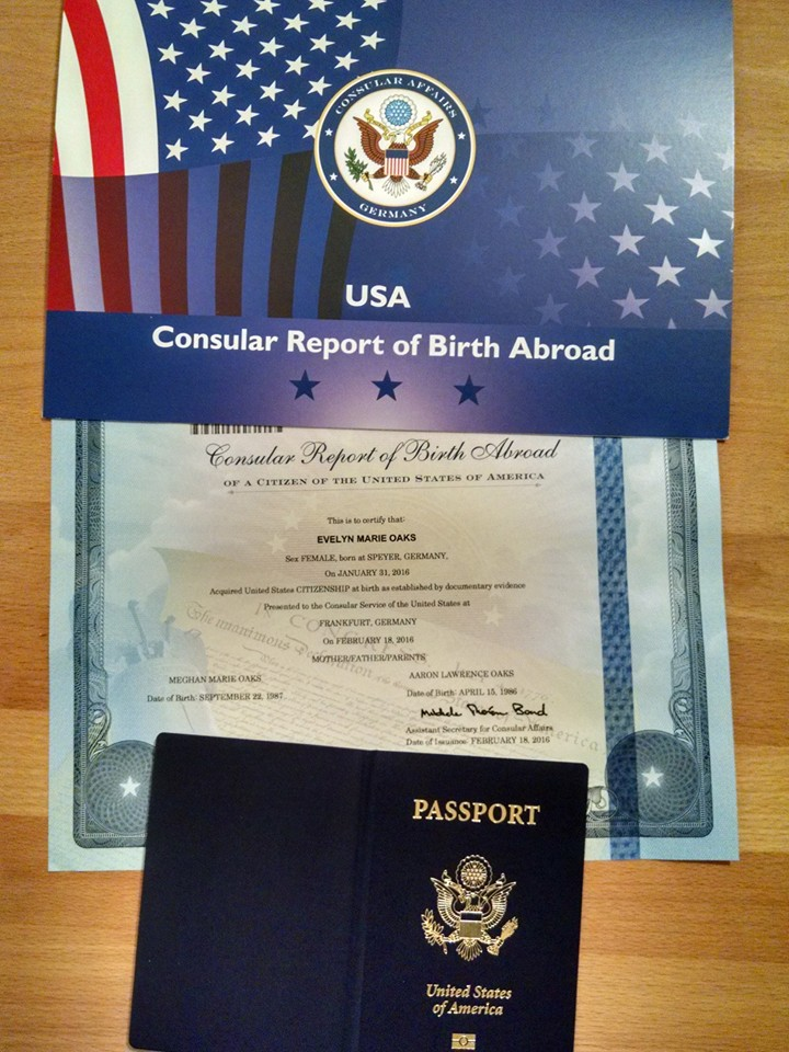Evelyn's CRBA and Passport! This certificate is way cool!