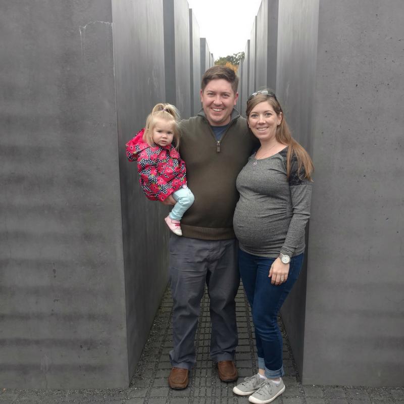 Holocaust Memorial, Berlin. 33 weeks Pregnant (!!)