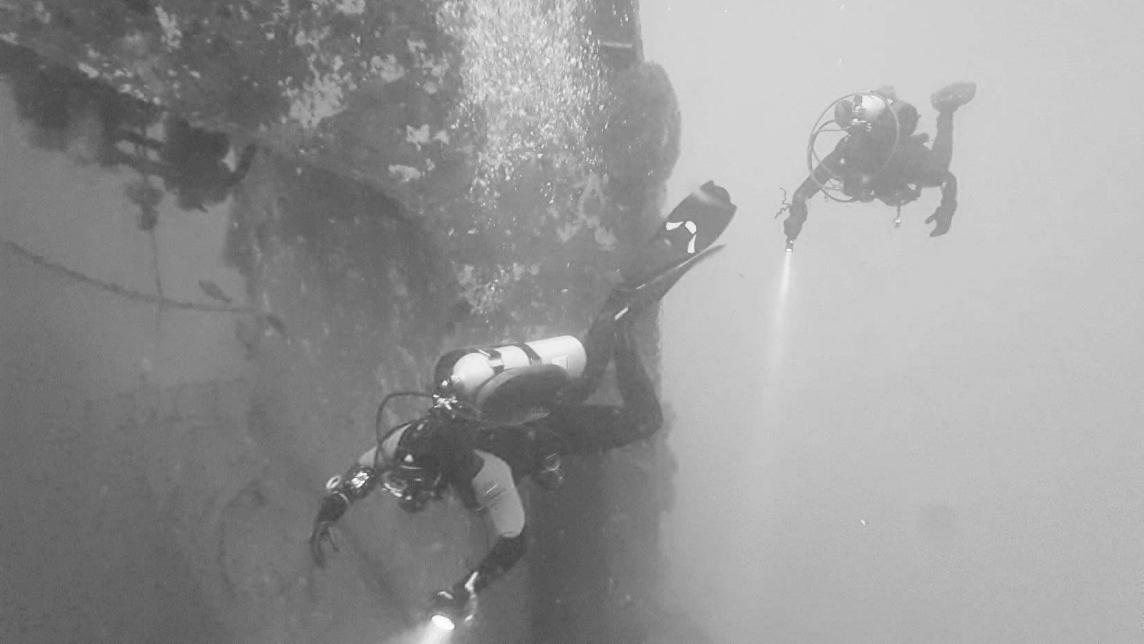 Aaron and I diving on the Kraken | Photo Courtesy of  Dustin Ainsworth  of  Southeast Texas Scuba
