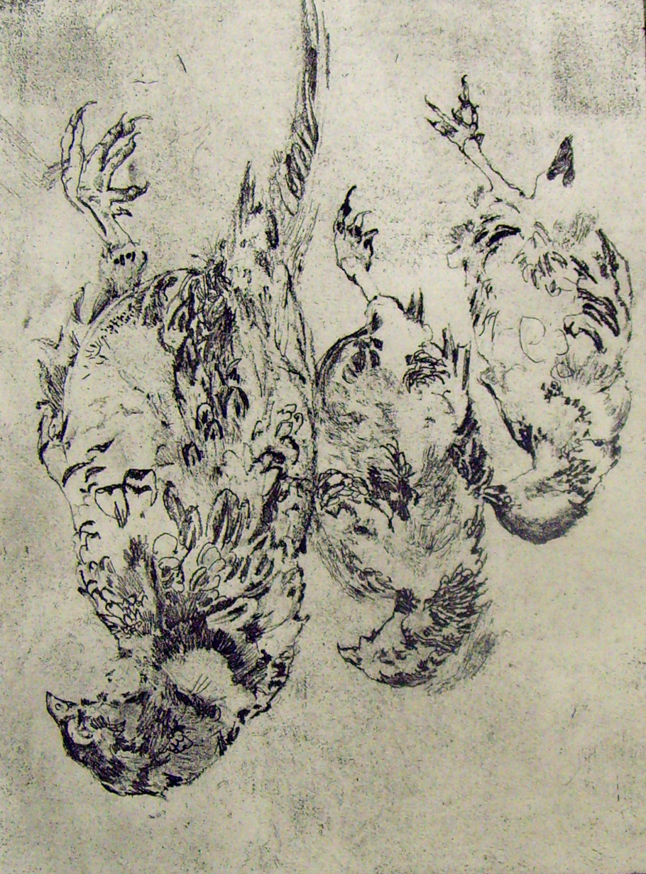 'Four Little Hearts' Hunger Collection [Poetry Illustrations] - Etching - 15x21cm .jpg