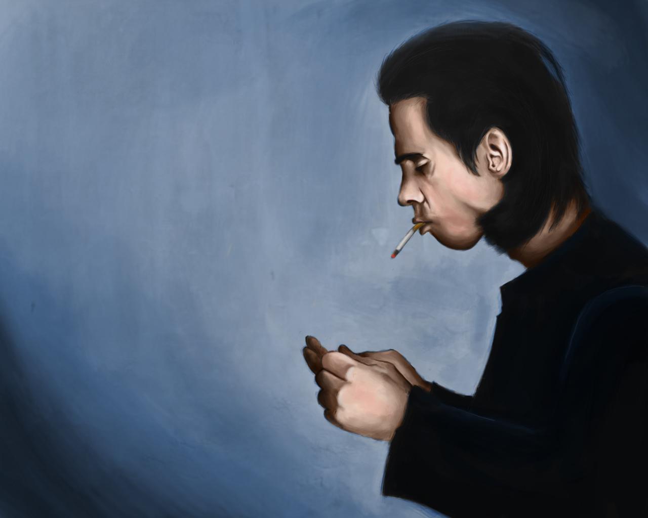 Nick Cave portrait.
