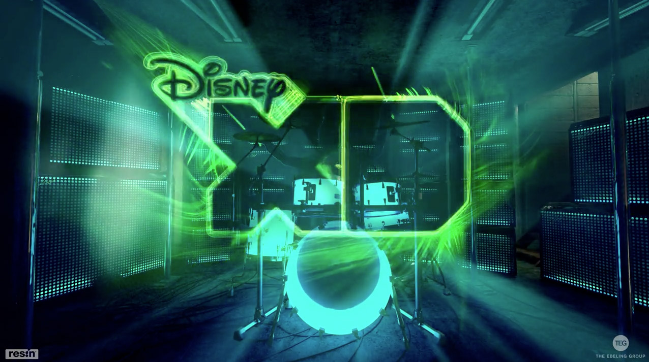Project:  Disney Drums   Responsible for:  Animation. Rigging of the drum set and arms.