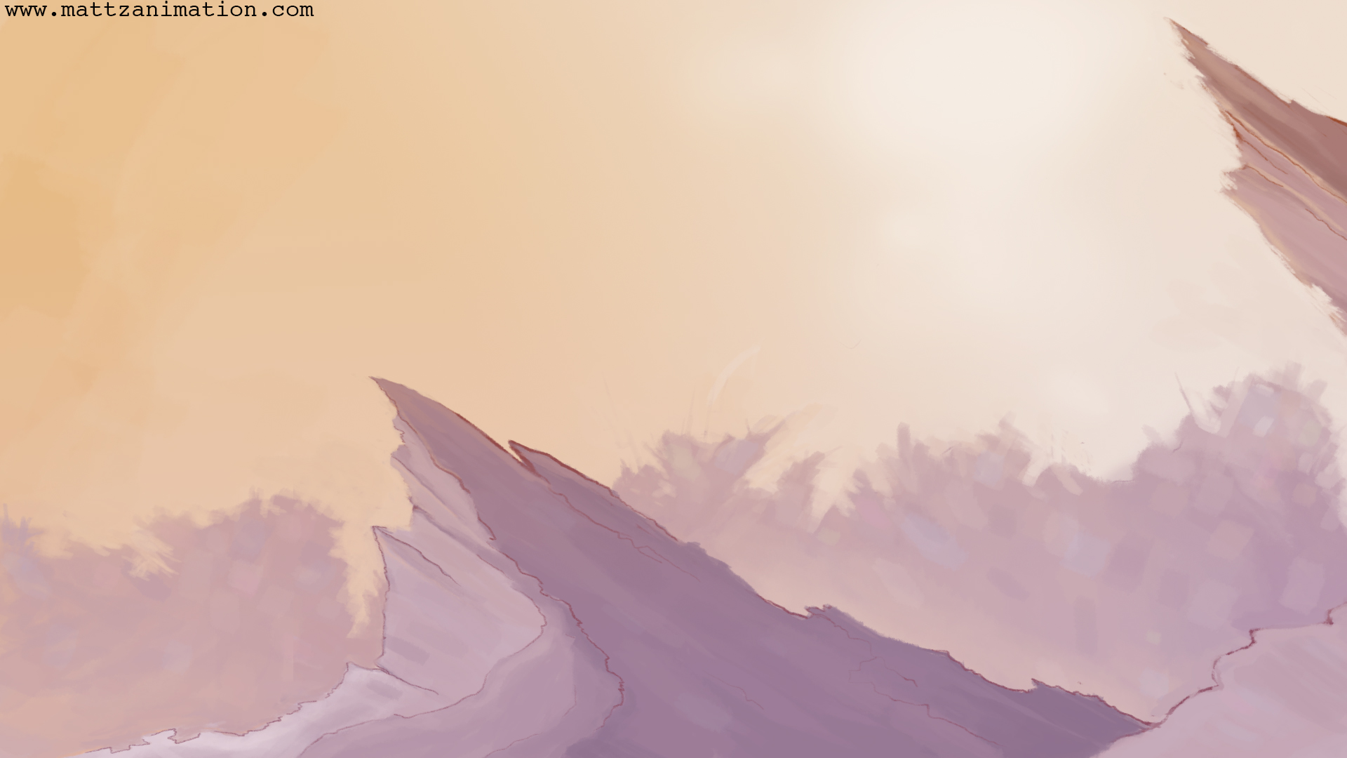 Background painting for a WIP animation project.