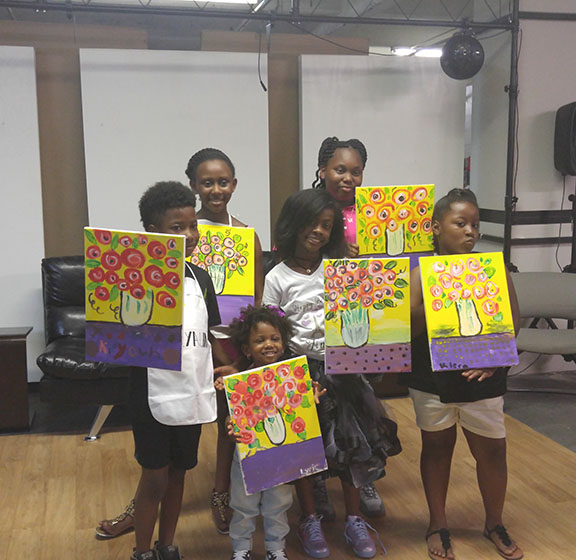 Youth painting workshop.