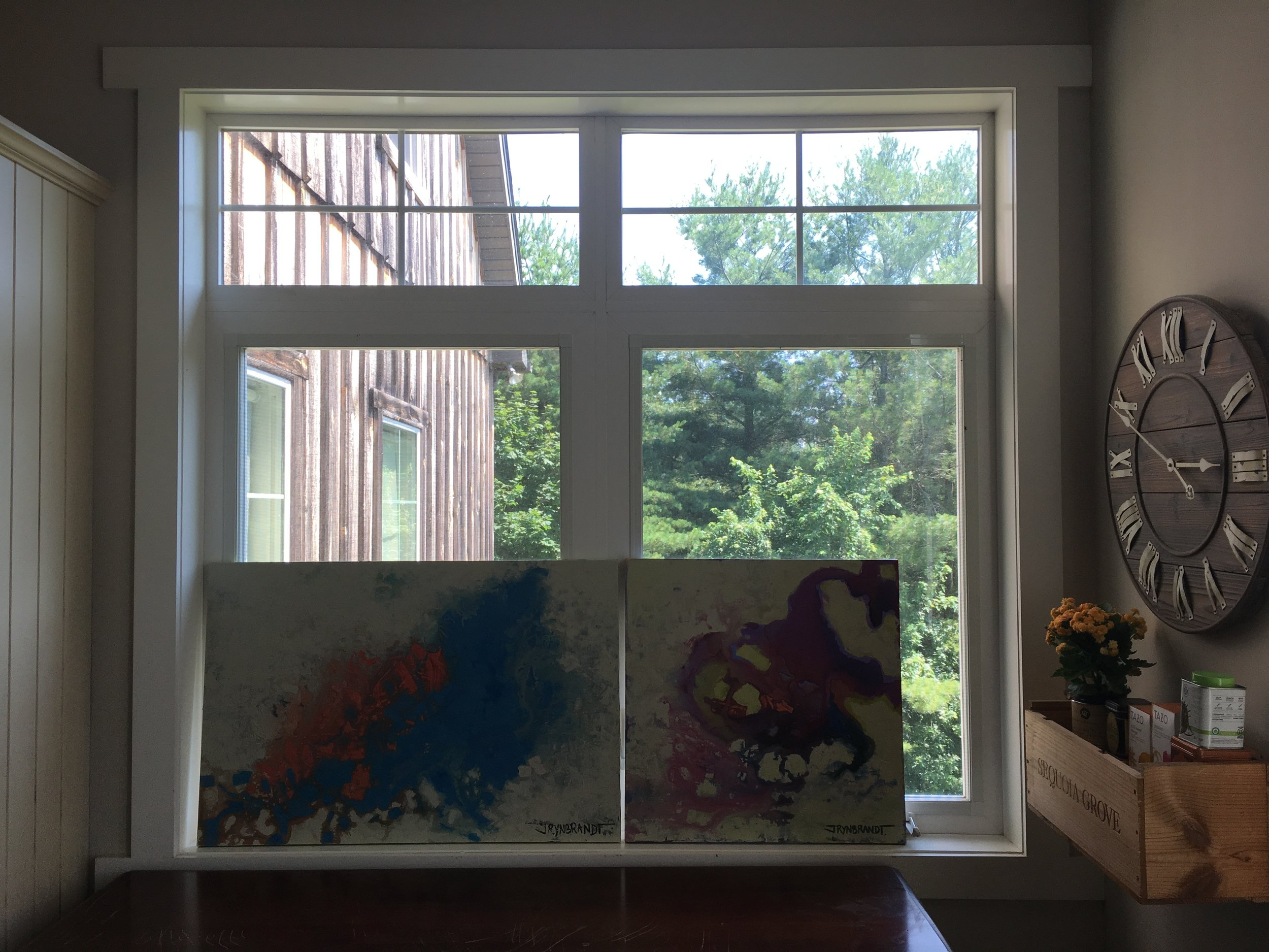 Here are this week's offerings in a six foot wide kitchen window.