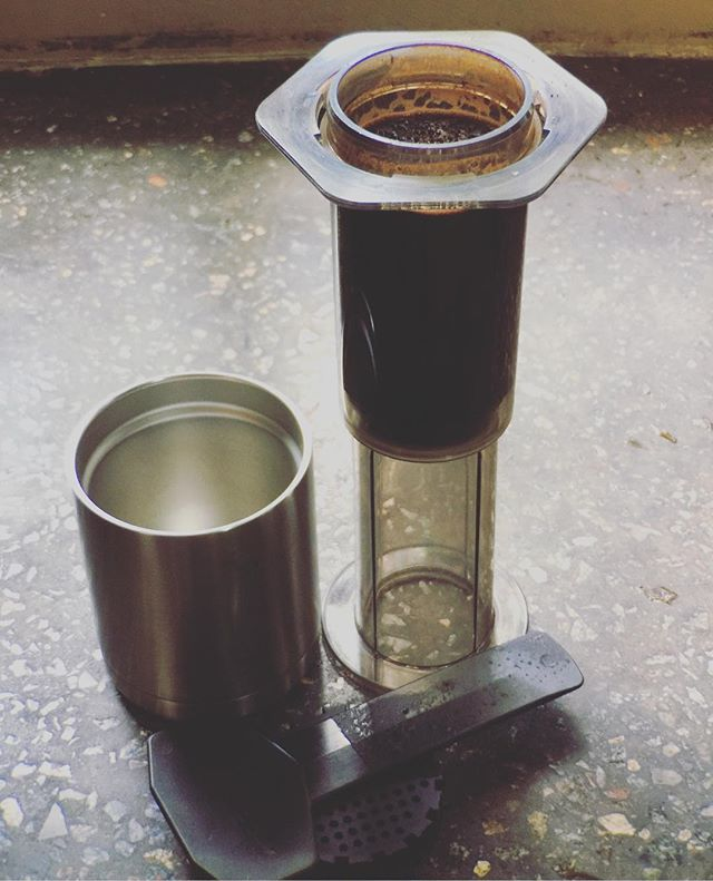 Afternoon recharge. #aeropress #coffee #its7amsomewhere