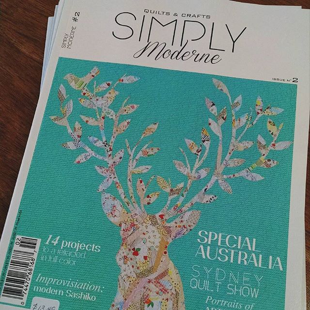 Latest issue of Simply Moderne quilt magazine is in, 25% off retail. #simplymoderne #quilt