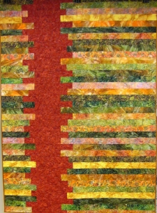 Rustic in Batiks made and quilted by RM 2017