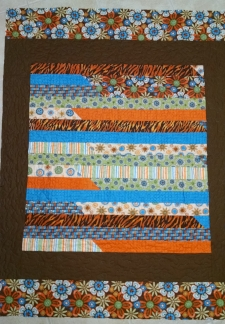 cuddle quilt made by Diana N. and quilted by RM 2016