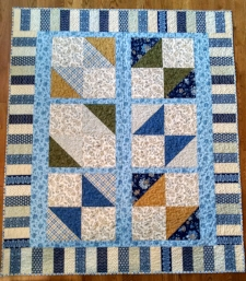 Color It Blue, made and quilted by   RM 2016