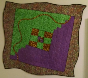 Wacky Whoville Quilt, original design, made and hand quilted by RM, 2014