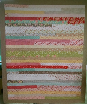 Pieced by Leland S, quilted by RM 2017.