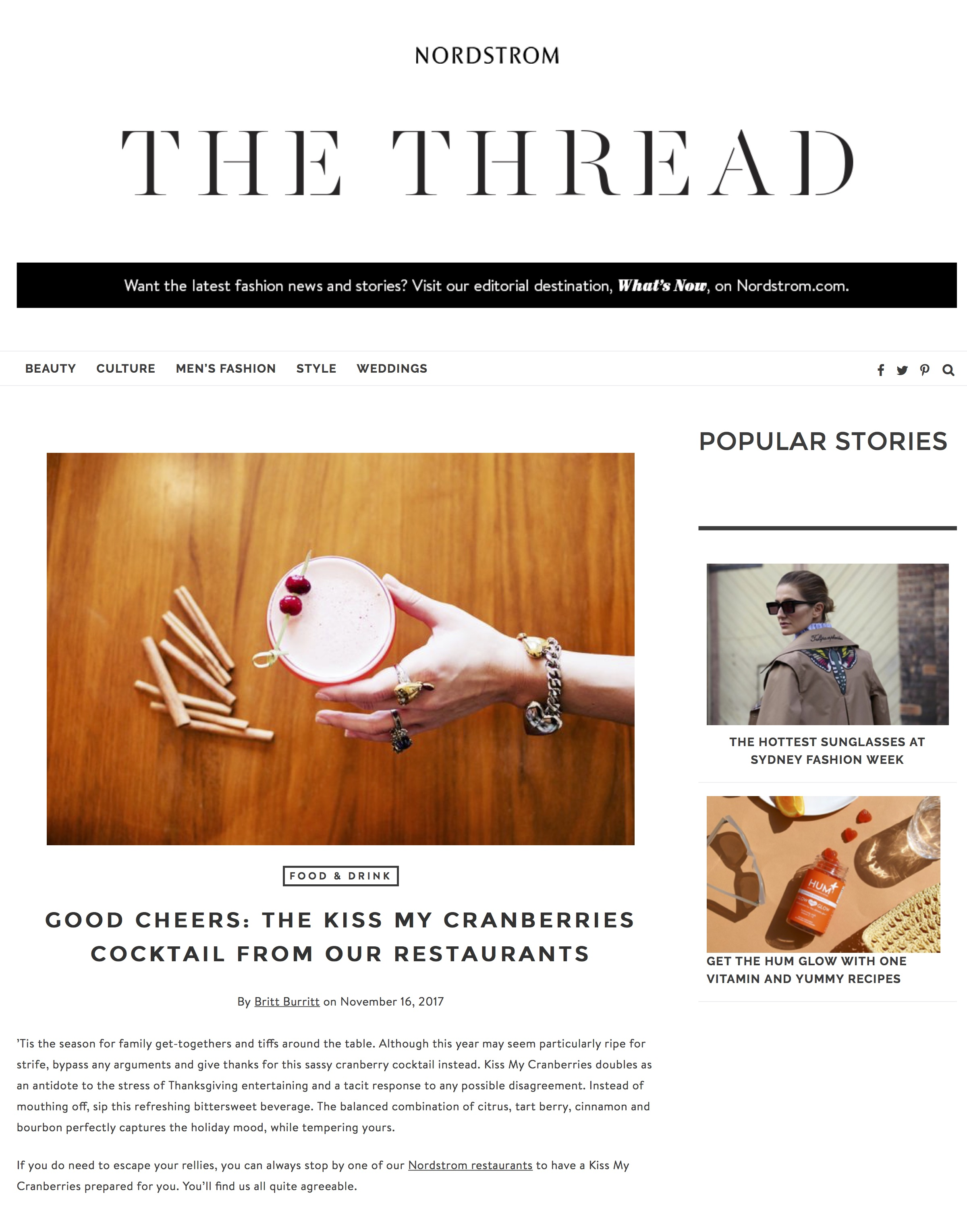 Good Cheers: Kiss My Cranberries Cocktail | Nordstrom Fashion Blog.jpg