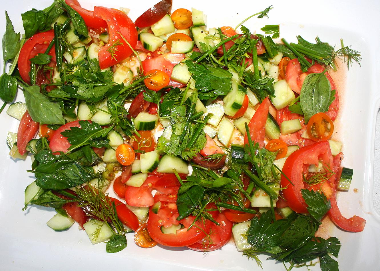 Least photogenic salad award goes to....