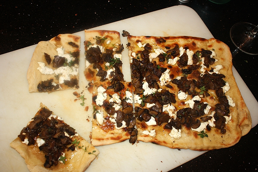 Mushroom, Thyme & Goat Cheese Pizza