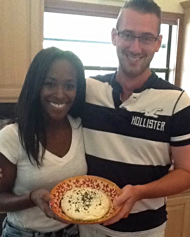Shayla, Joseph and their delicious creation!