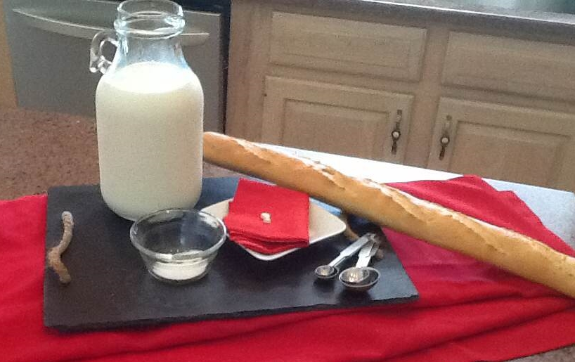 Your simple ingredients... bread for later.