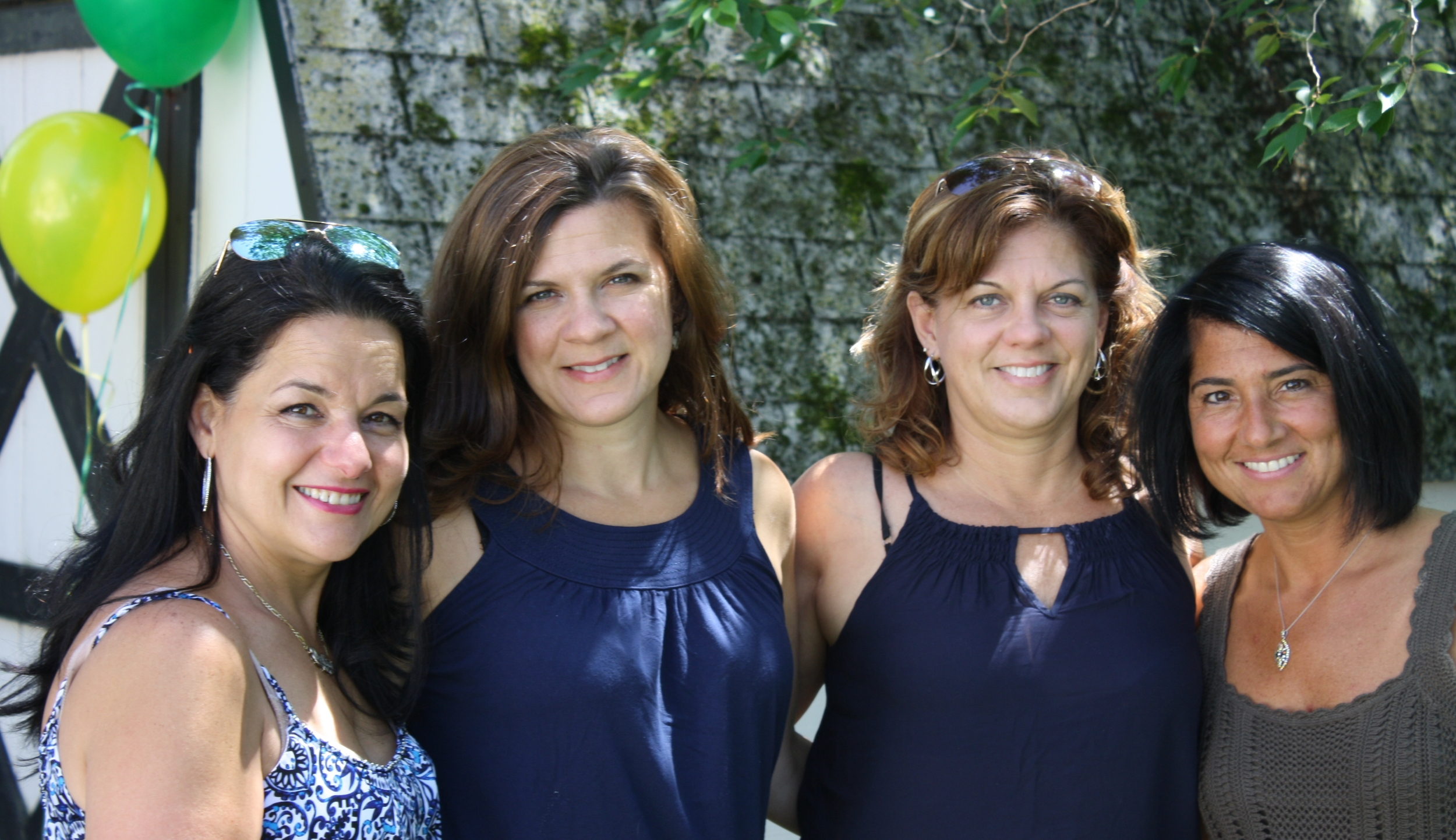 SIsters by blood and love:  Delia, Kelly, Denise & pamela