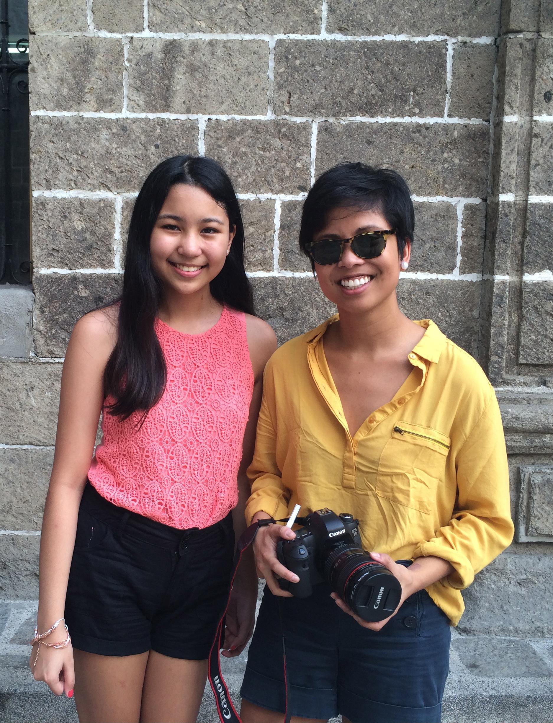 Pulse.ph intern Cheska Bernabe poses with Founder Rovaira Dasig.
