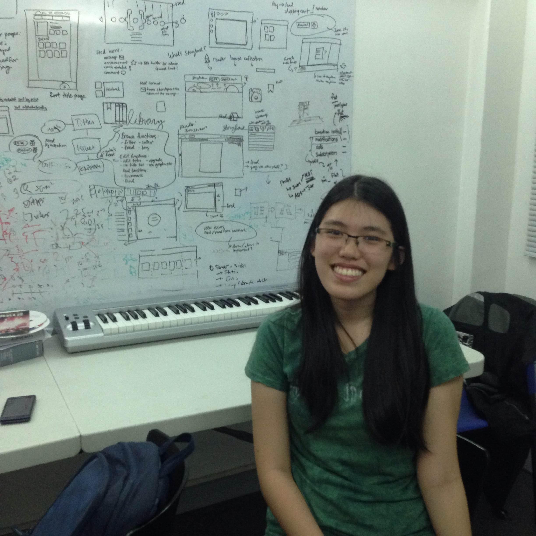 Intern Alyssa Ty hard at work at Sari Software Solutions.
