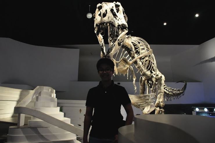 Mind Museum Intern Teddy Peralta exploring the exhibits at his workplace.