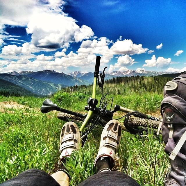 Solo ride. Van Horn park, Aspen.