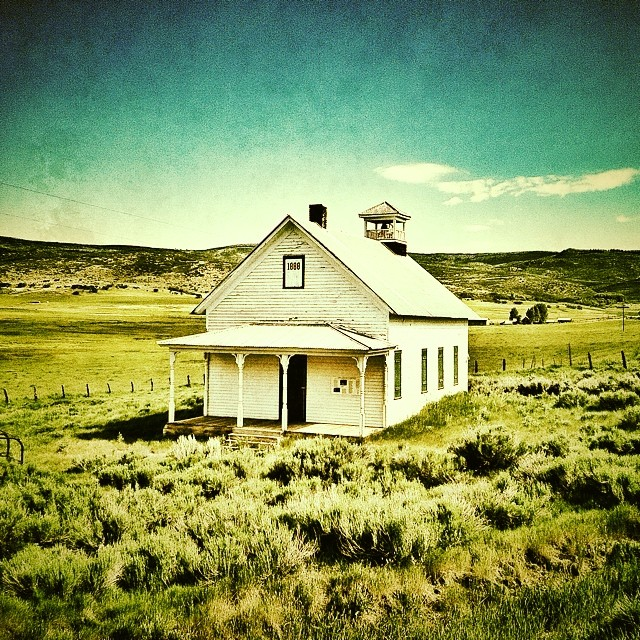 Old Cattle Creek schoolhouse. A road biking discovery.