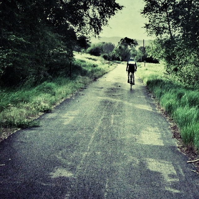 An evening road ride is bliss!