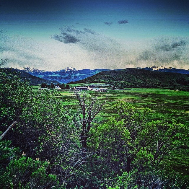 Evening pedal up East Sopris Creek rd.