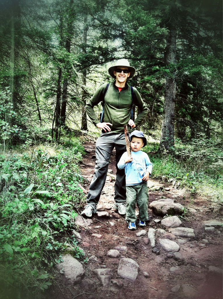My bro and nephew luke joining me on a hike today. #visitcarbondale.