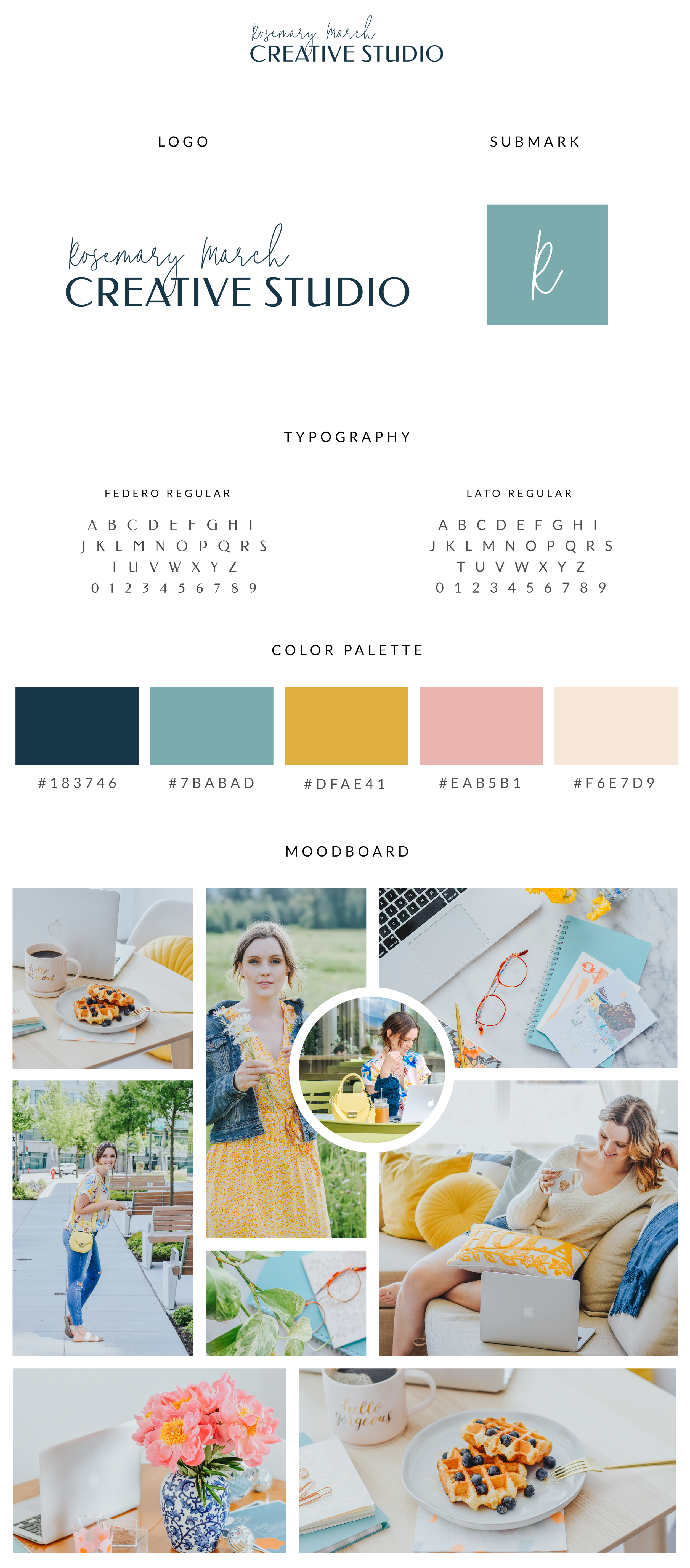 Brand Style Guide  - Rosemary March Creative Studio