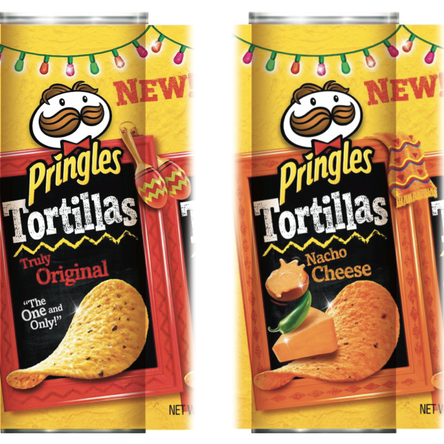 """Pringles Tortillas Cues & brand guidelines  @LPK I sketched what other illustrations could be used and sourced stock imagery which I manipulated into a rough concept, Scott Burns then """"realized"""""""