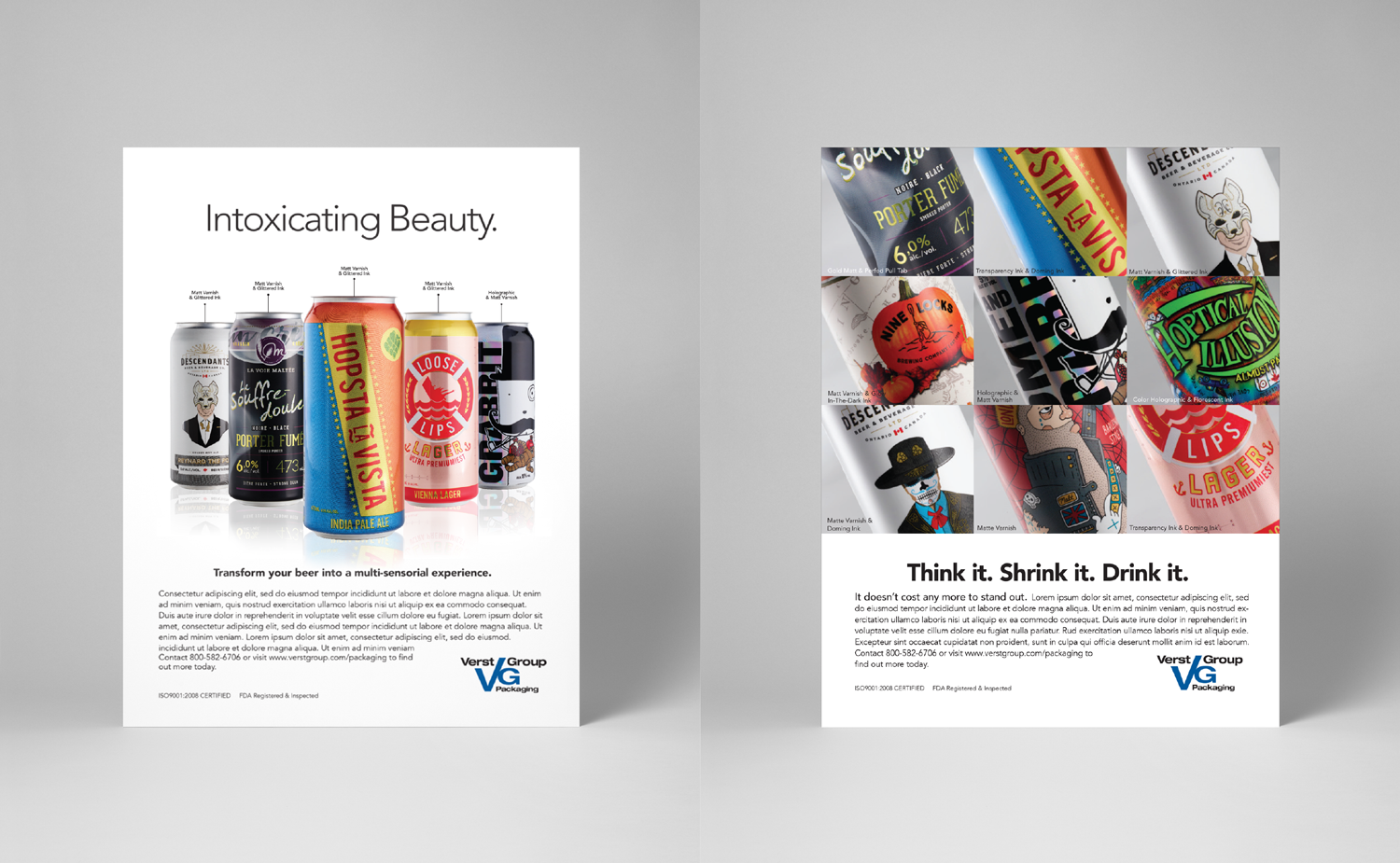 When our clients are successful, we are successful. These are two AD options for an insert in Packworld. The one on the left was chosen to show off their decorating effect capabilities.