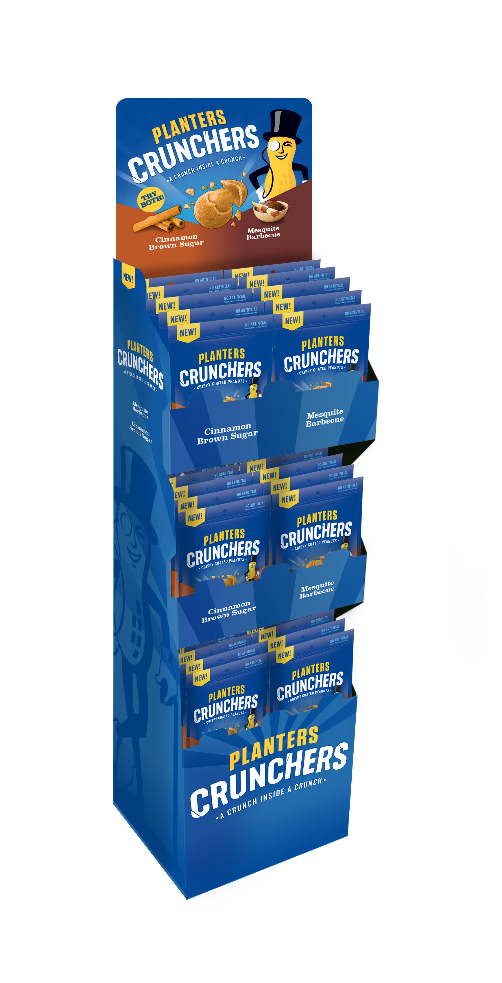 Cruncher POP Stand , 4 color Header card, and 2 color POP. Header card was created from existing Planters packaging, the rest is new @soulsight