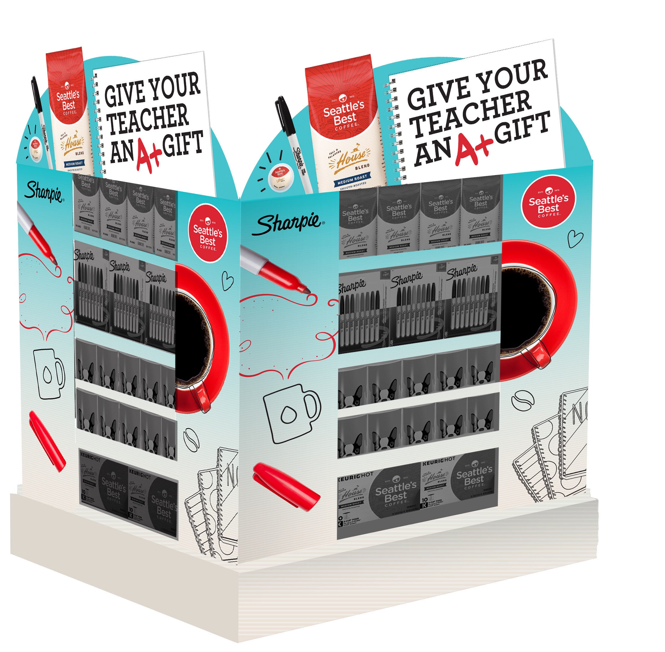 Seattle's Best Partnership palette  art direction and design  I worked with a copywriter on this for the tagline, and I found some of the drawings to compose this sell in concept. @MosaicShopper