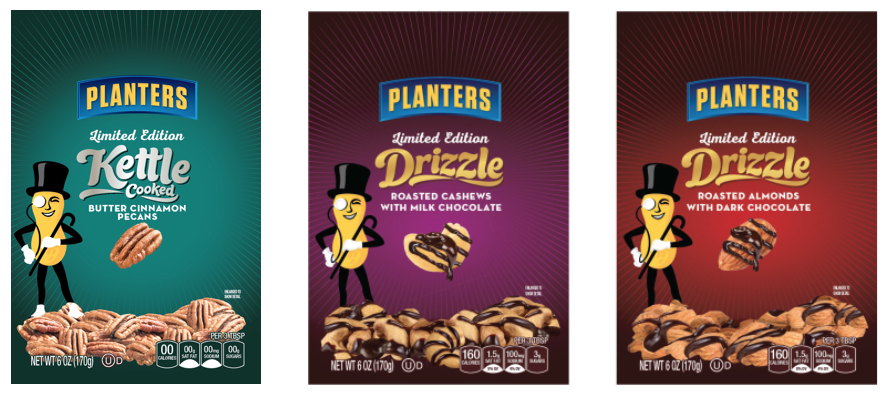Planters Kettle Cooked & Drizzle  flavor adaptations and type studies @soulsight