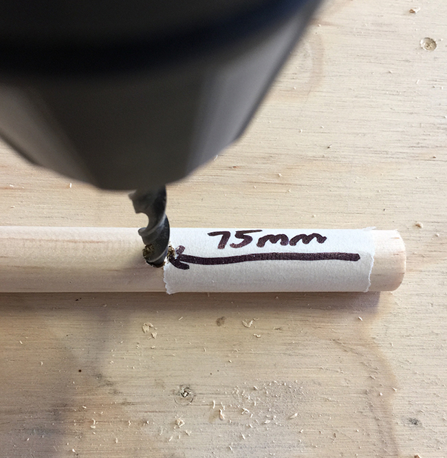 8 Use 8mm drill bit to make holes 75mm from end.jpg