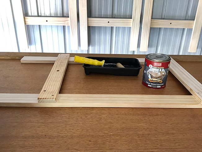 5 seal the trestles with clear varnish.jpg