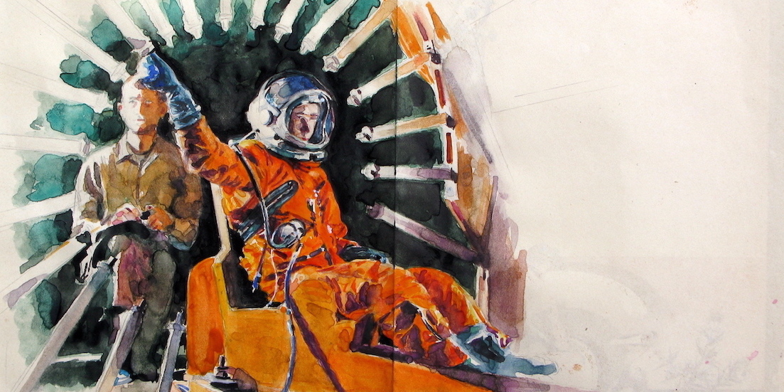 NASA X-15 Research Program - David Clarke Co. Pressure Suit (late 1950's - early 1960's). 215 x 264mm, 2019.  $1150.jpg