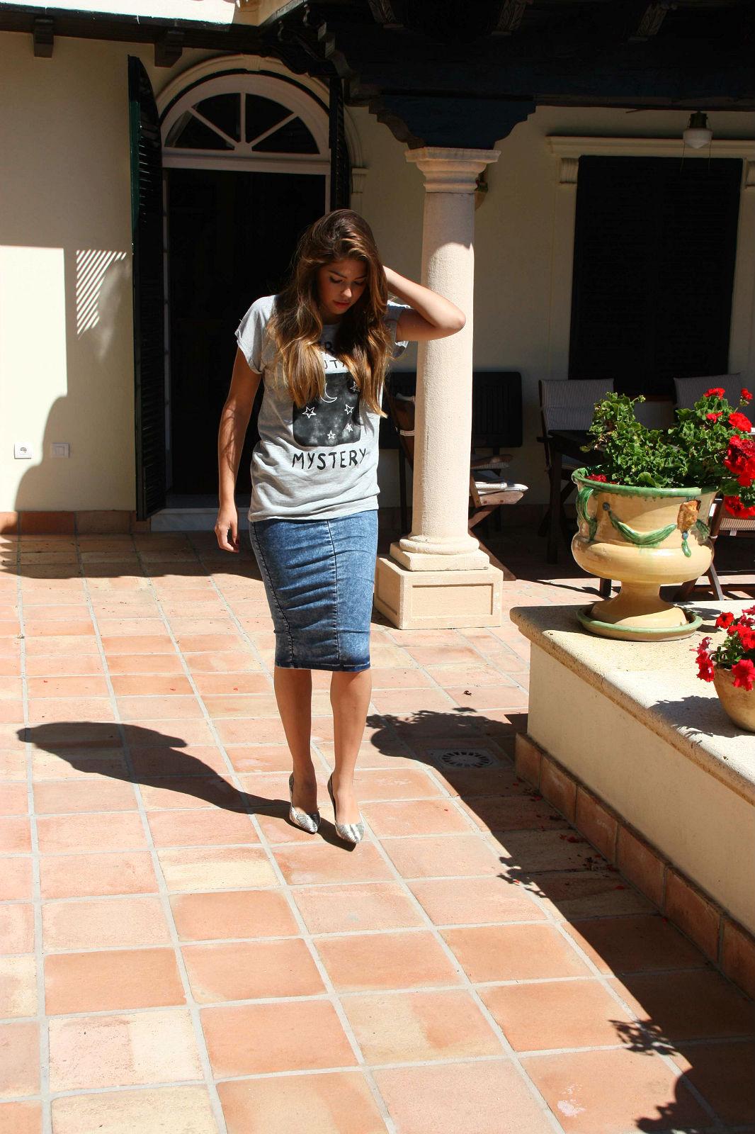 Gabriela Merino Denim pencil Skirt 2014