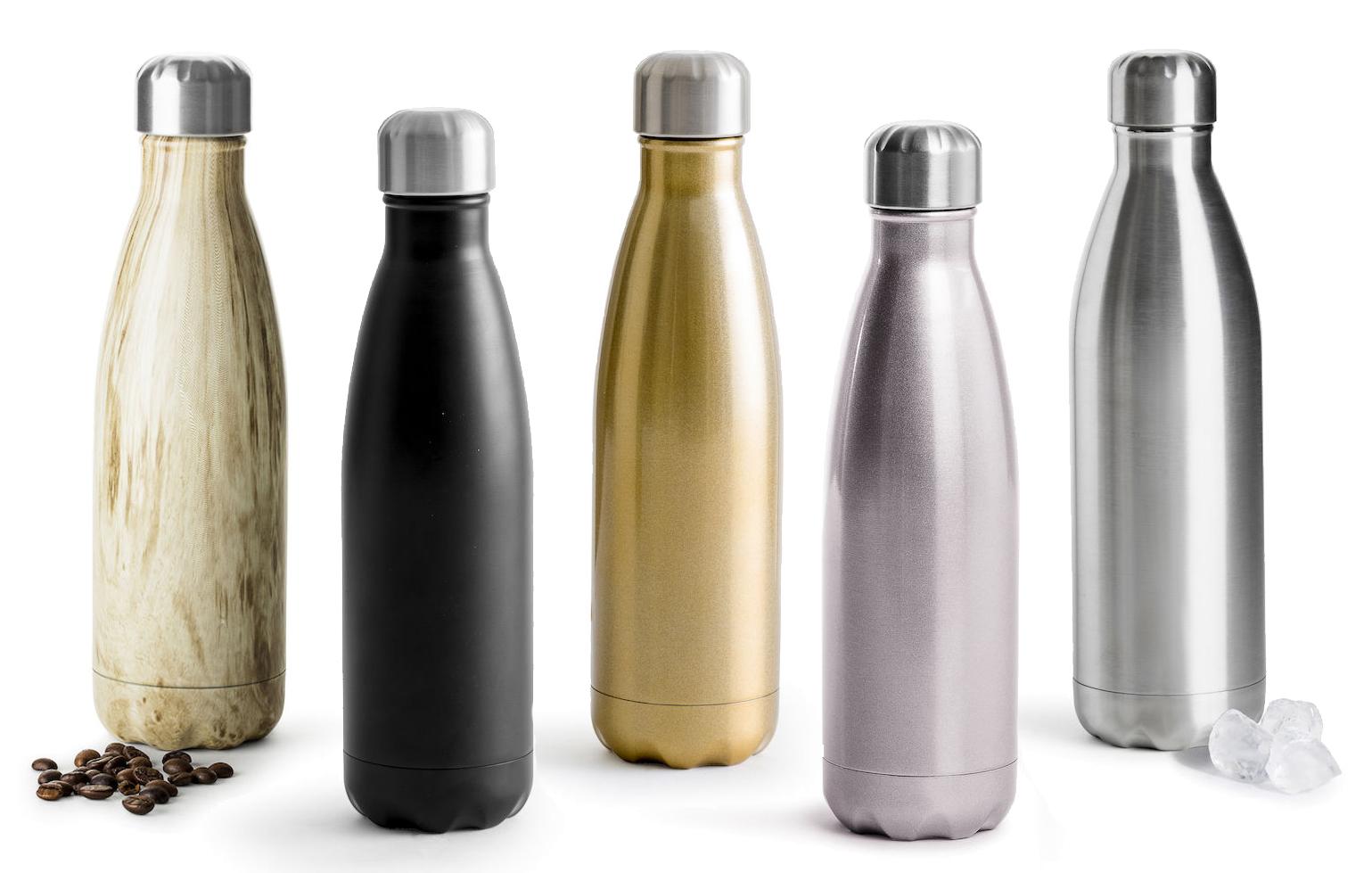 Stålflaske - Flasken holder drikken iskald opp til 24 timer eller varm i opp til 12 timer. Fra Sagaform189,-