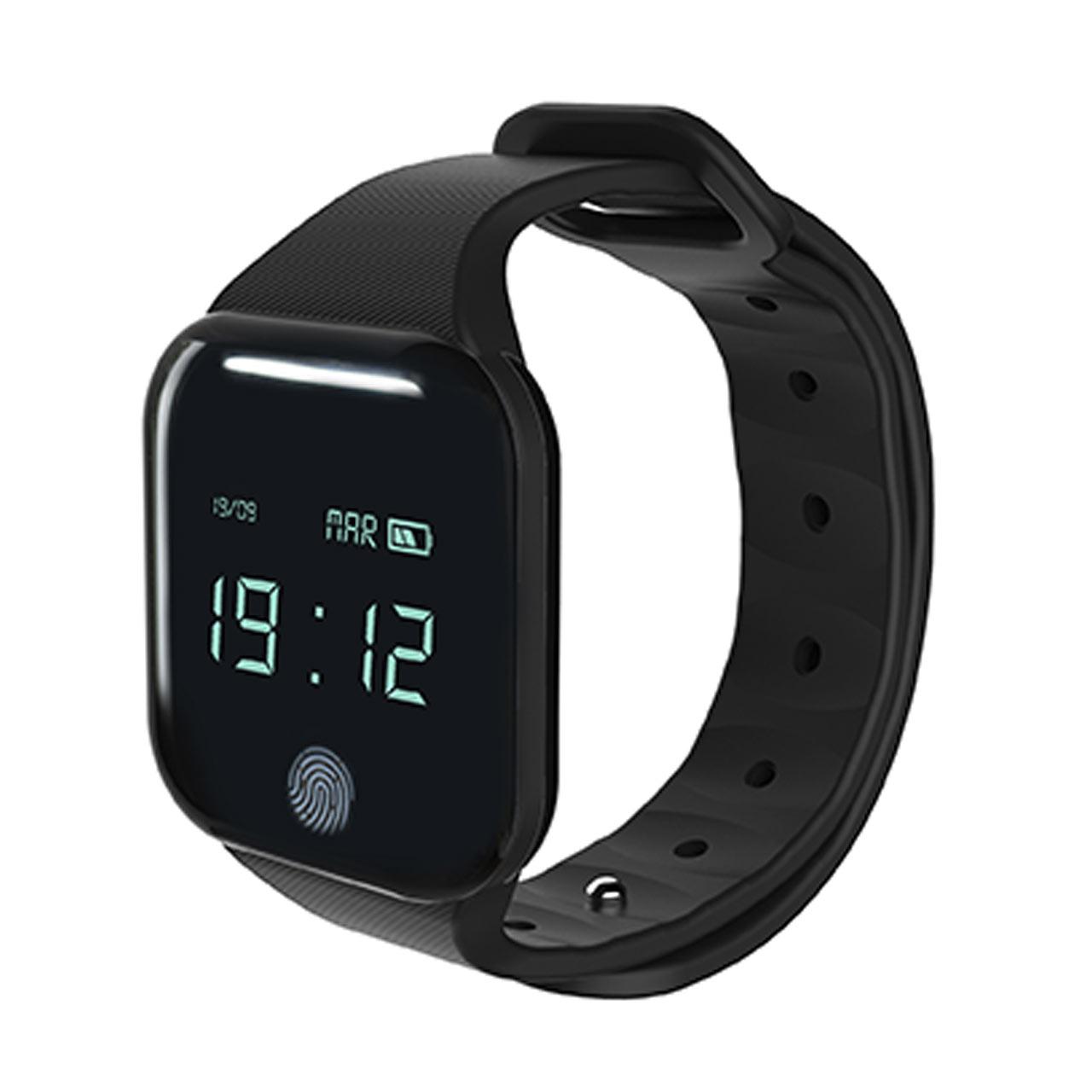 Smart Klokke - Bluetooth smart klokke som overvåker hjertefrekvens, kalorier brent, trinn og søvn. Varsler også om innkommende meldinger. Gratis app. 264x35x10 mmFra D-vise645,-