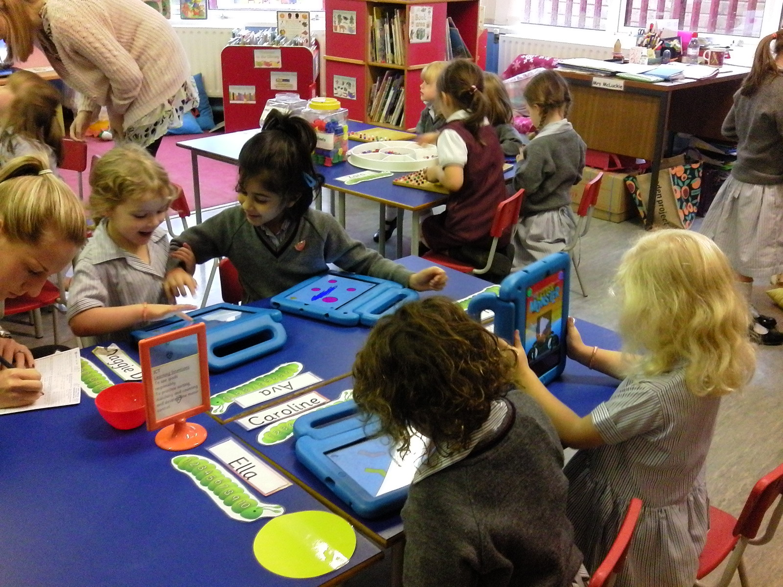 Play Based Learning is always busy and lots of fun. We just love our iPads.