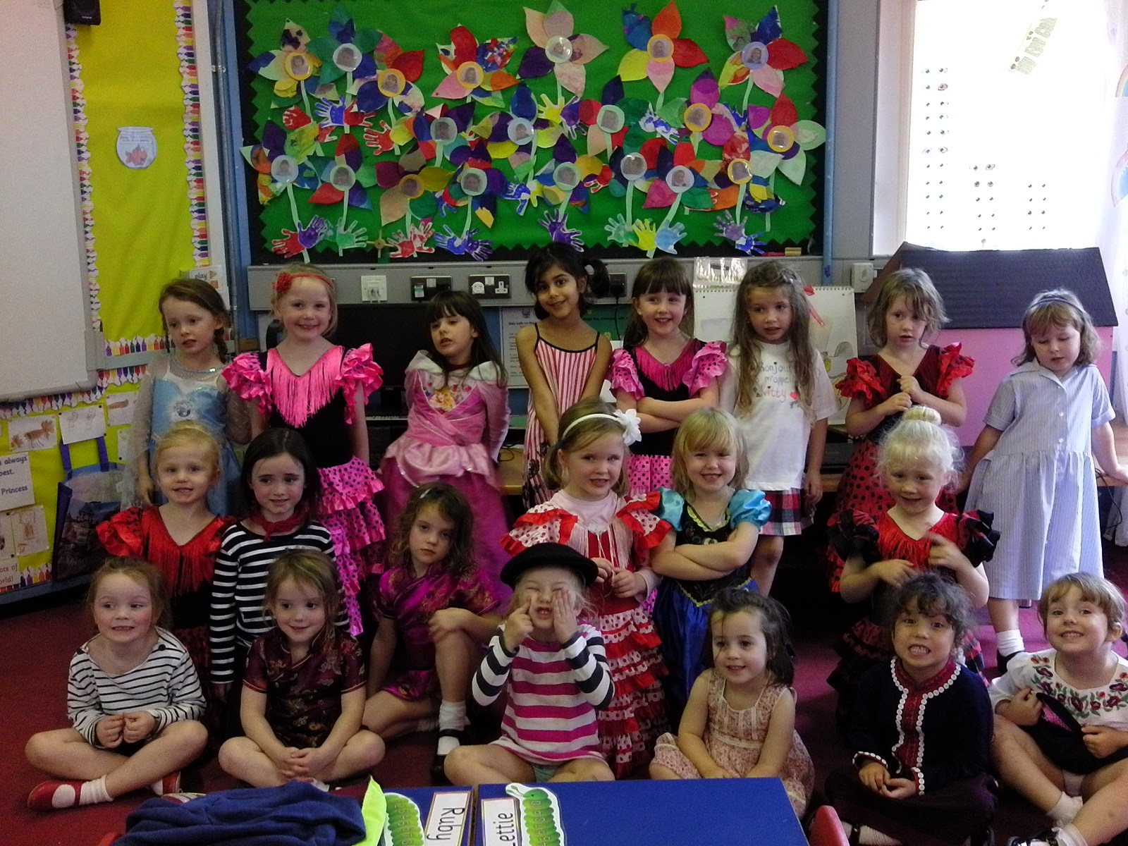 Here we are celebrating World Languages Day. What fabulous costumes!