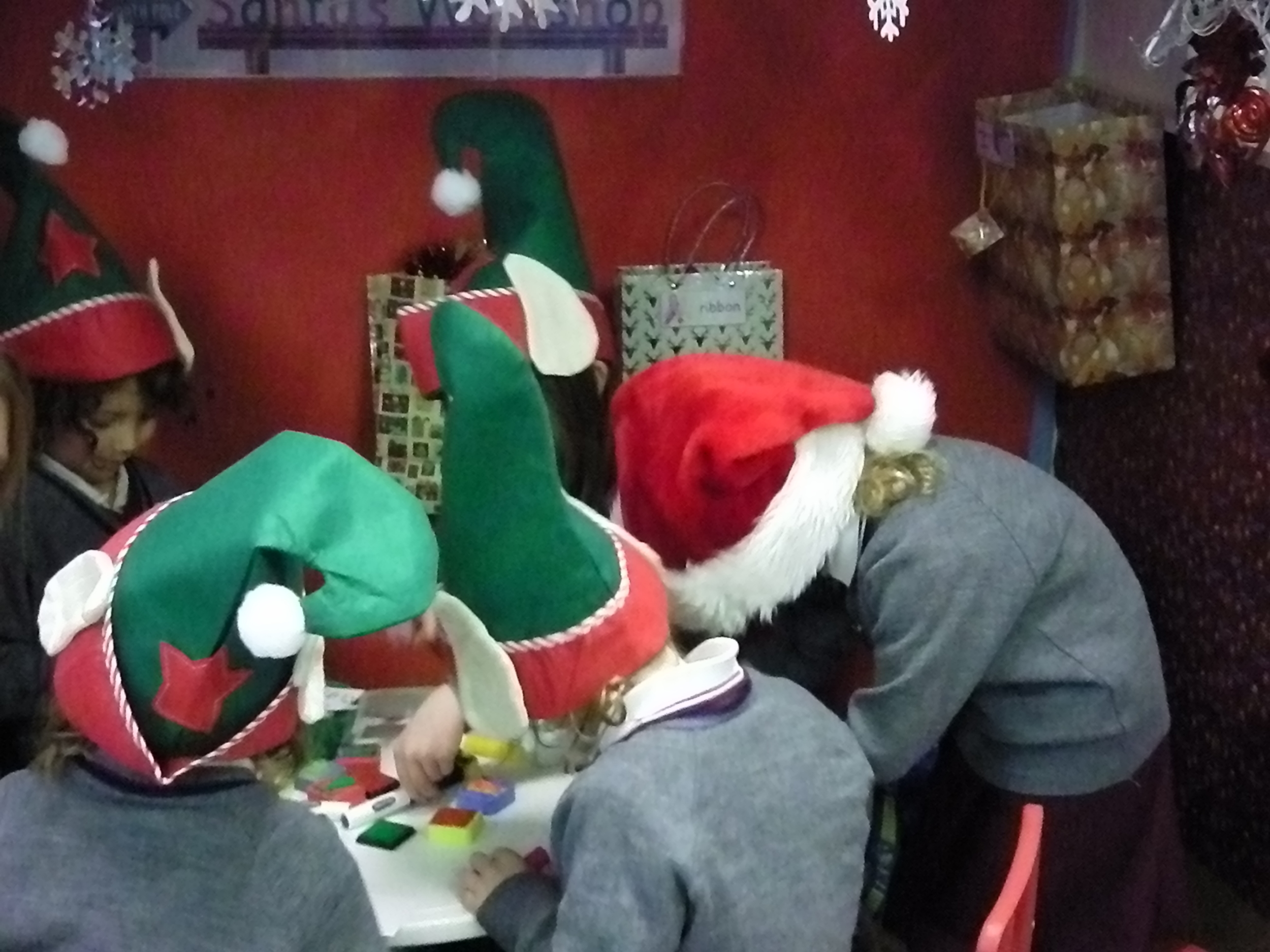 Santa's elves are so busy making gift tags.