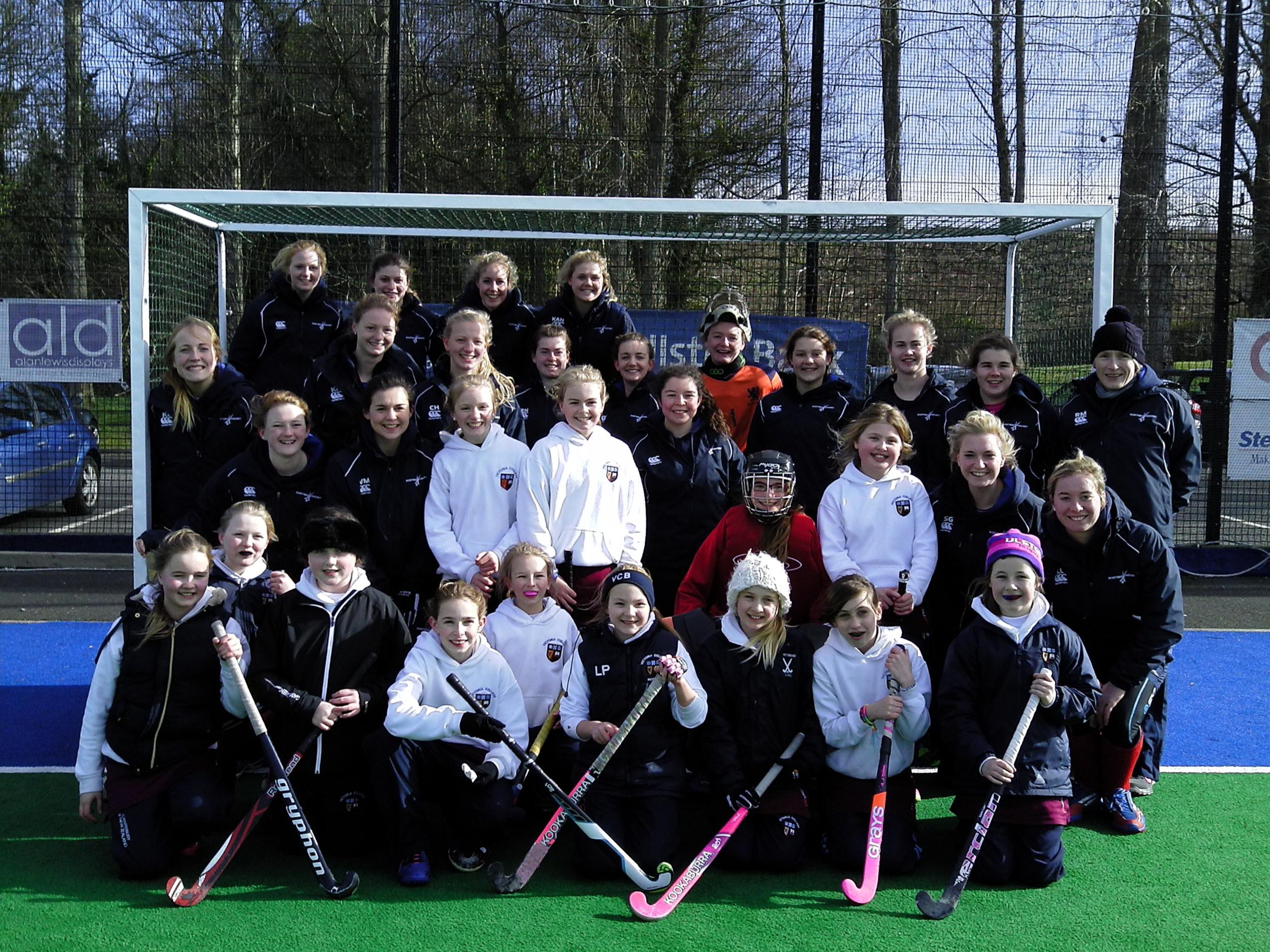 The Prep Hockey team meet the Ladies U21 Scotland Squad..JPG