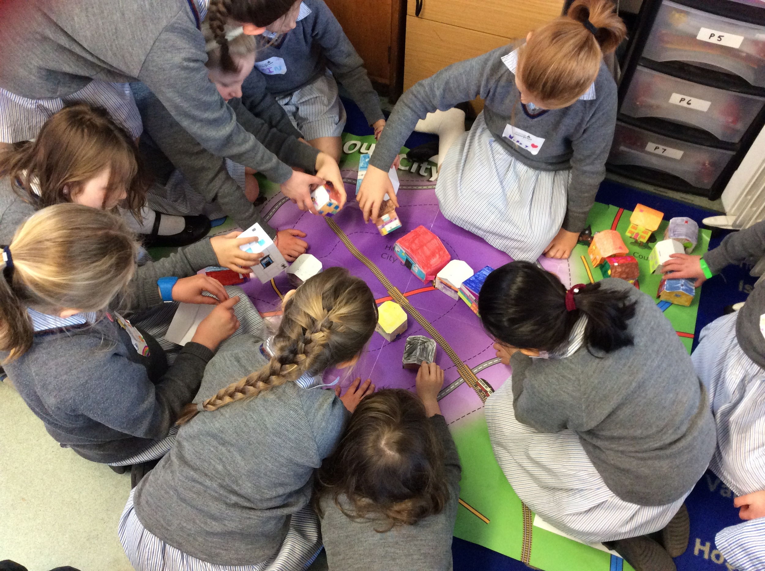 Prep 5 City Planners are problem-solving as they discuss their city design.