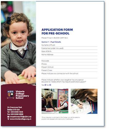 Pre-School Application Form