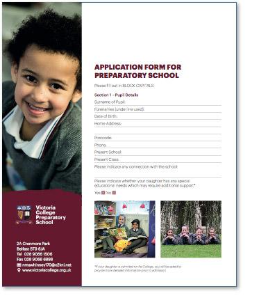 Preparatory 1 - 7 Application Form