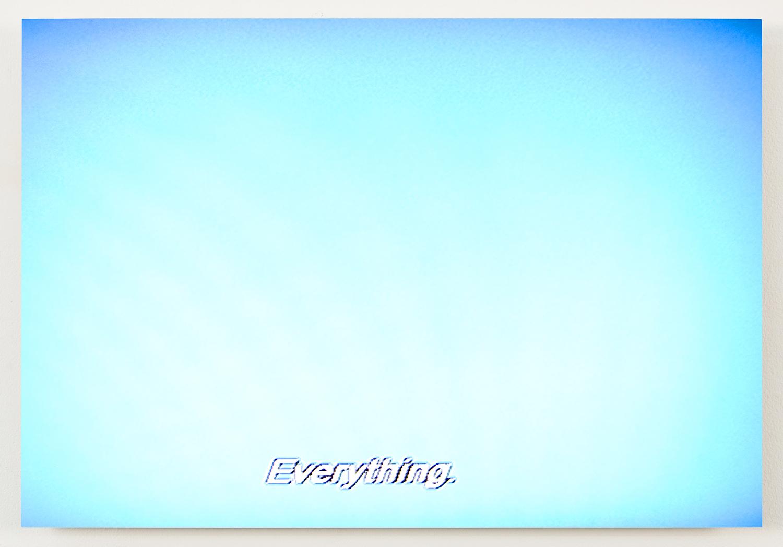 "Everything  , 2011,  archival inkjet print on aluminum panel, 13"" x 19"""